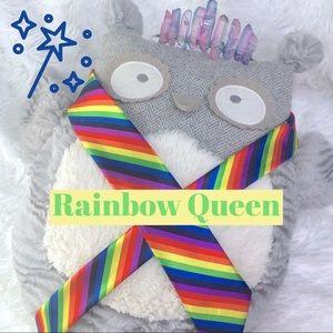Rainbow Stripe Necktie Novelty Skinny Tie
